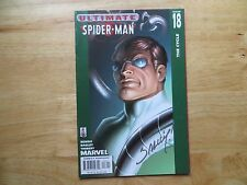 2002 ULTIMATE SPIDER-MAN # 18 MARY JANE & DOC OCK SIGNED MARK BAGLEY WITH POA