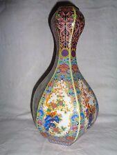 Old Chinese  hand work paint & cloisonne flowers & birds porcelain vase