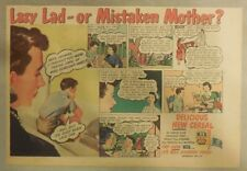 "Kix Cereal Ad: ""Lazey Lad"" from 1930's-1940's 7 x 10 inches"