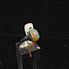 Ring, Gr.57,  Silber 925 mit einem Opal Cabochon aus Äthiopien