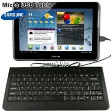 """Micro USB Leather Keyboard Plug and play For 9.7"""" 10"""" Samsung Galaxy Tab A E S"""