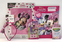 5pc Minnie Mouse Gift Set Jumbo Coloring Book Crayons Puzzle Head Band Nail Set