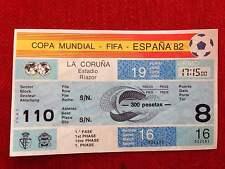 ENTRADA TICKET UNUSED WORLD CUP SPAIN 1982 WC82 POLAND CAMEROON MATCH 16 POLSKA