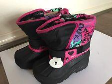 Reinforced Toe Light Weight Child Kids Snow ski Boots Girls WaterProof AU7