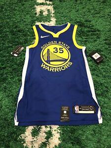 Nike VaporKnit NBA Authentic Warriors Kevin Durant Jersey Men's 40 Small AV2643