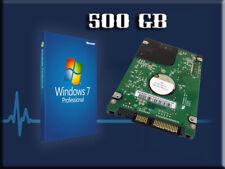 """Hard Drive 500GB Wins7 Laptop 2.5"""" HP Compaq CQ32 CQ42 CQ56 CQ72 G42 G62 G72."""