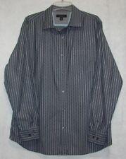 "Banana Republic Long Sleeve Gray Pin Stripe Dress Shirt  Size L Neck 16-16.5"""