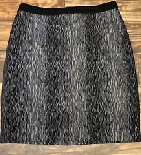 New Ann Taylor Loft Women 8 Black Gray Pencil Straight Above Knee Skirt Career