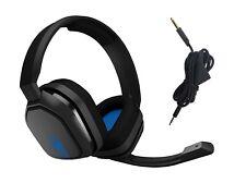 罗技 Astro a10 有线游戏耳机和麦克风 939-001509 ps4 PlayStation 4 蓝色