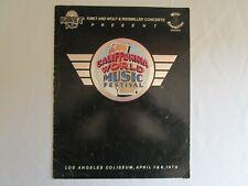 '79 California World Music Festival Rock n Roll Concert Program Van Halen Nugent