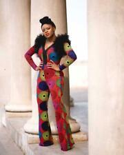 Multicolor Ankara Jumpsuit. Size 14. Long sleeve.