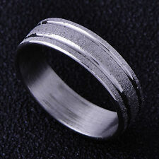 Mens Boy's Womens Likable White Gold Filled Band Ring Fashion Jewelry Size 8