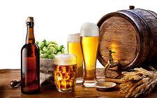 Enmarcado impresión Real Ale todavía Lift (Barril De Cerveza De Vidrio Imagen Arte Cartel Camra)