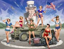"""Master Box 35183 """"Pin-UP"""" Army Girls  6 Figures  Scale 1/35"""