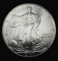 2007 American Silver Eagle BU Coin 1 oz US $1 Dollar Uncirculated Brilliant *207