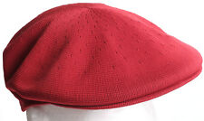 Kangol Tropic 504 Dark Maroon Red Kangaroo Flat Cap Hat - Size LARGE New w/ Tags