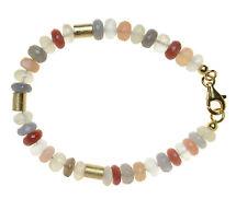 MONDSTEIN MULTI Armband Silber vergoldet 20,5cm / MOONSTONE Bracelet D771
