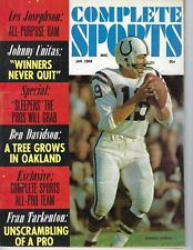 1969 JAN Complete Sports football magazine Johnny Unitas Baltimore Colts GOOD