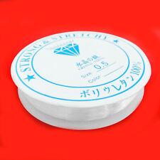 Gummifaden 3x10 m für Armbänder elastisch transparent 0,5 mm Perlen nenad-design