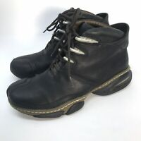 Cole Haan G Series Black Leather Ankle Boots NIKEAIR Mens 7.5 Hiking Outdoor