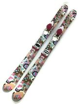 New listing Girls Youth Roxy Snow Skis 110 cm With Roxy Bindings Flowers Design