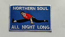 NORTHERN SOUL MUSIC SEW ON / IRON ON PATCH:- NORTHERN SOUL ALL NIGHT LONG DANCER