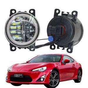 LED Fog Light + Angel Eye Rings Daytime Running Lights DRL Fit For Toyota GT86