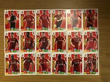PANINI PREMIER LEAGUE 2019/20 FULL TEAM SET OF ALL 18 LIVERPOOL CARDS MINT