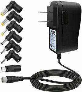 AC Multi Tip Switching Power Adapter Wall Charger for 5 Volt DC Power Supply New