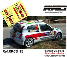 DECAL/CALCA 1/43; Renault Clio S1600; Rautenbach-Senior; Rally Catalunya 2006