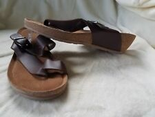 Softmoc women summer shoes amber BRN Leather size 7