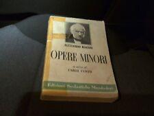 Alessandro Manzoni - Opere Minori - A Cura di Carlo Curto - Mondadori 1958