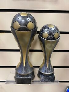 Football Ball Tower World Cup style  Award - FREE ENGRAVING - 260mm