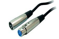 Cavo Audio Stereo Prolunga XLR 3 Poli Maschio / Femmina 2 MT Metri Microfono