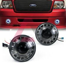 For 2006-2010 Ford F-150 Fog Lights Driving Halo Ring Projector DOT Smoke Lens