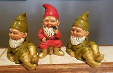 3 Vintage Composition Paper Mache Gnomes Elves Made in Japan Gnome -Dickson?