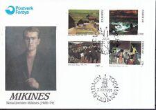 Färöer 1991 FDC MiNr. 223-226  85. Geburtstag von Sámal Joensen-Mikines.