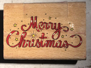 Stamp Craft Rubber Stamp Used ~ Merry Christmas