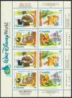 WINNIE THE POOH = DISNEY = PAGE of 2 Blocks of 4 from Pane 1621c Canada 1996 MNH