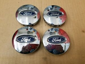Ford OEM 2002-2015 Edge Escape Flex Fusion Set Chrome Center Cap 3L24-1A096-AA