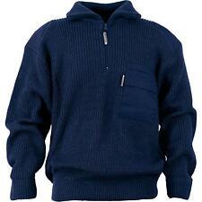Airsoft Troyer-Pullover mit Reißverschluss marine Gr L