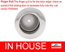 Finger Pull-for edge of cavity sliding door-Round-Polished