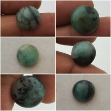 Emerald No treated gemstones round cabochons lot