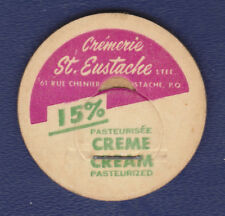 UNUSED CREAM BOTTLE CAP (CREMERIE ST. EUSTACHE. QUEBEC, CANADA)