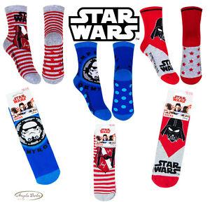 Calzini antiscivolo per bambini calzettoni Star Wars da bimbo caldi calze cotone