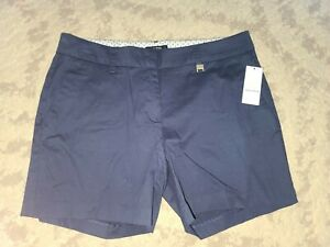 NEW Nautica Navy Blue Cotton Stretch Casual Shorts Women's NWT SIZE 6 (1K) $50