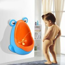 Frog Shape Kids Baby Potty Toilet Training Urinal Boys Pee Trainer Bathroom Blue