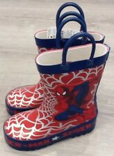 MOTHERCARE INFANT BOYS MARVEL SPIDER-MAN WELLINGTON BOOTS SIZE 7 NEW WITH TAGS