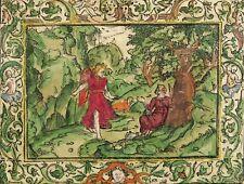 Monogrammist MT-Ange montre Hagar la source de Zamzam-Kolor. Gravure sur bois 1560