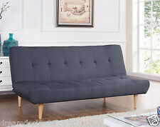 New Sofabed Fabric 3 Seater Padded Sofa Bed Suite Designer Wooden Colourfull